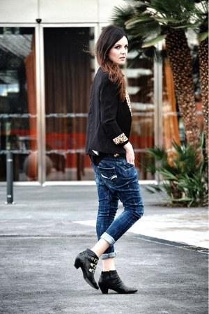 Tidestore blazer - Jeffrey Campbell boots - bers jeans