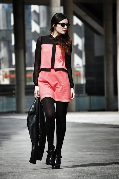 Zara boots - Titis Clothing dress - Pull & Bear shirt