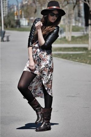 Love dress - Miu Miu boots - Forever 21 hat