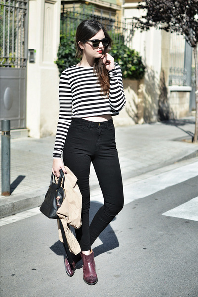 Zara top - asos boots - American Apparel jeans - see by chloé bag