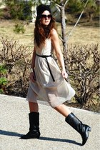 Love dress - vintage boots - asos accessories - romwe bracelet