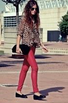 Forever 21 shirt - BLANCO bag - Miss Selfridge loafers - Bershka pants
