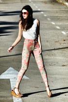 Zara wedges - Motel jeans - Zara top