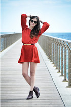 asos boots - vintage dress