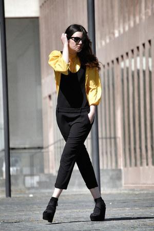 Zara romper - vintage shirt - Mango sandals