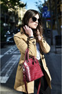 Oasap-coat-furla-bag-miu-miu-sunglasses-asos-pants-zara-flats