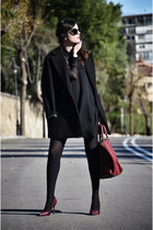 Mango coat - Zara dress - sam edelman heels