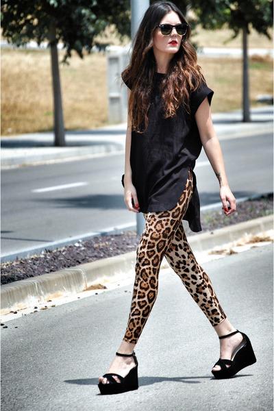 Zealotries leggings - Zealotries bag - Zara top - Jonak wedges