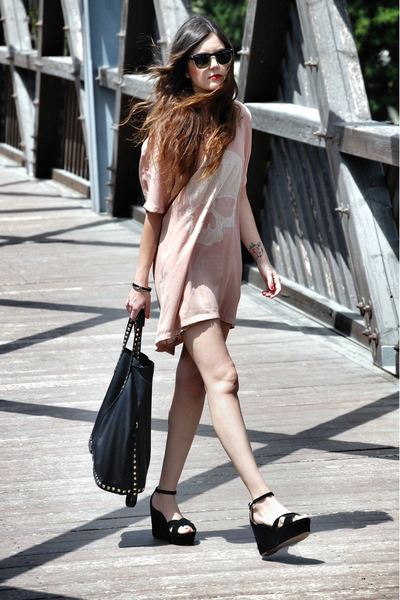 Jonak shoes - Fashion Pills dress - Zara bag - Ray Ban sunglasses