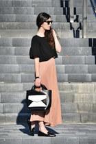 Zara bag - OASAP top - Uterque flats