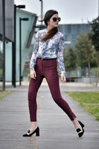 Zara shoes - Zara shirt - Miu Miu sunglasses - asos pants