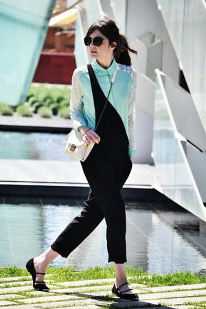 PERSUNMALL shirt - Brussosa bag - Miu Miu sunglasses - Zara romper - Zara flats
