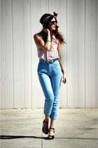 Fendi pants - vintage blouse - River Island belt