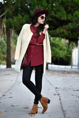 C Serrano cardigan - Topshop jeans - inlovewithfashion shirt