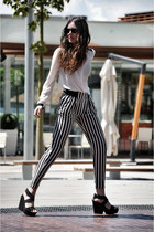 Sheinside pants - Zara blouse - Mango wedges