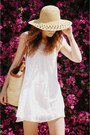 Zara-dress-pull-bear-hat-flea-market-bag-mango-glasses-topshop-sandals