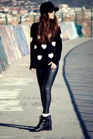 Zara pants - Forever 21 boots - yuki jumper