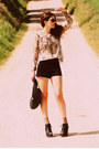 Asos-shoes-primark-hat-urban-outfitters-shorts-topshop-blouse