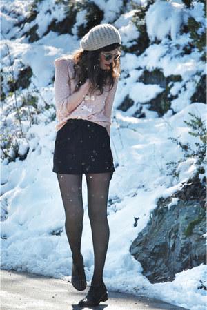 asos shoes - H&M hat - pepa loves shorts - pepa loves cardigan