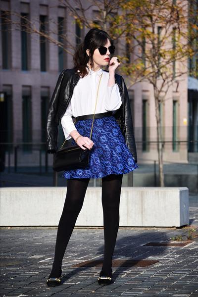 Zara skirt - Zara shoes - Mango shirt - Tous bag - Miu Miu sunglasses