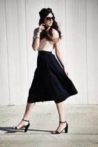 vintage skirt - Zara shirt - Massimo Dutti heels