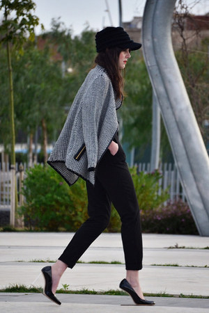 Sheinside cardigan - maison martin margiela wedges - Zara pants