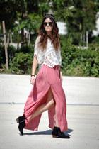 Zara top - Mango boots - Zara skirt