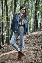 Jeffrey Campbell boots - rocco barocco jeans - chicnova jacket - Zara top