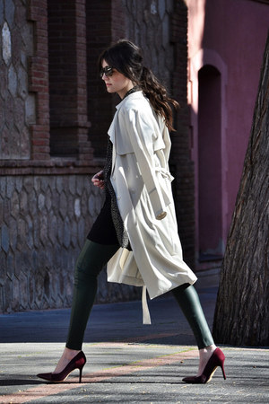 H&M coat - Bottega Veneta sunglasses - sam edelman heels - Zara pants