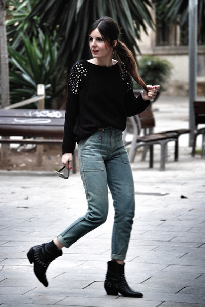 suiteblanco jumper - Zara boots - vintage jeans
