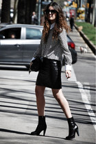 Chanel skirt - Sergio Rossi boots - Dolce & Gabbana shirt