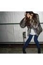 Brown-oasis-coat-blue-jeans-asos-accessories-dark-gray-asos-shoes