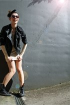 lace Urban Outfitters dress - studded leather Vero Moda jacket
