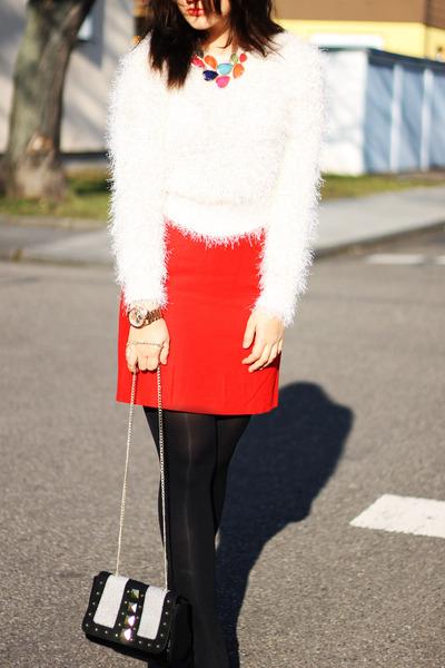 mustard Michael Kors watch - cream H&M sweater