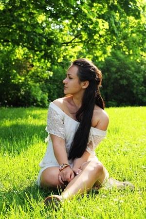 lace GinaTricot dress - Michael Kors watch
