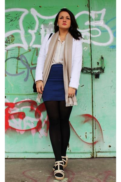 Tally Weijl blazer - Valentino scarf - Zara blouse - Esprit wedges