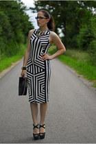 white Primark dress - black H&M bag - black Primark heels
