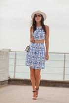 white DressLink top - white DressLink skirt