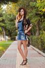 Black-sheinside-jacket-blue-stradivarius-romper