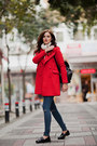 Red-sheinside-coat-black-chicwish-jeans