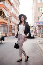 black Zealotries jacket - heather gray H&M hat - white Sheinside pants