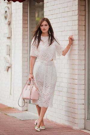 white Zara suit