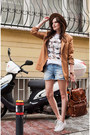 Tawny-mango-jacket-blue-stradivarius-shorts