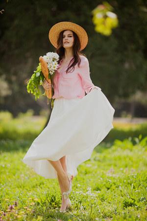 ivory asos skirt - pink Sheinside blouse