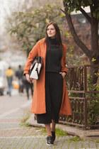 tawny Sheinside coat - black asos loafers