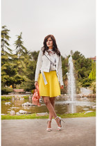 white BB Dakota jacket - light yellow Wholesale7 suit