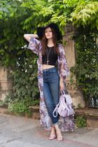 light purple Missguided jacket - black H&M hat - light purple Missguided heels