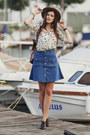 Navy-romwe-skirt-cream-romwe-blouse