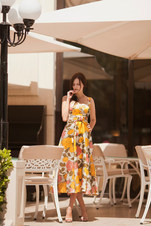 light yellow asos dress