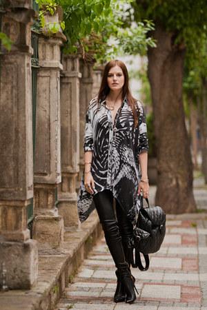 silver Religion shirt - black Les Eclaires pants